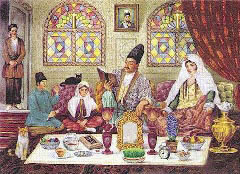 Painting of an old iranian New Year ceremony