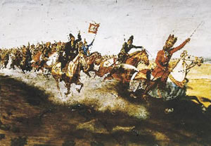 Painting of a battle