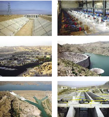 Dam and water installations