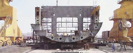 Ship building factory